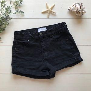 Garage Black Retro High Waisted Shorts